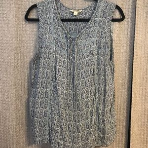 Lucky Brand blue paisley blouse